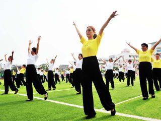 长春中医药大学中医十八式养生广场舞