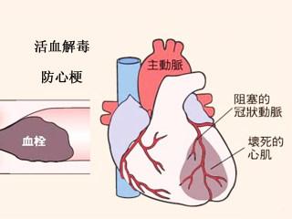 活血解毒防心梗