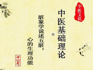 中医基础理论讲座脏象学说述五脏:心的生理功能